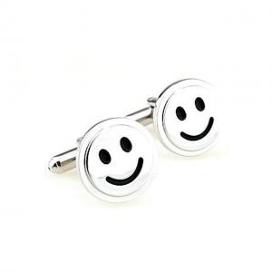Butoni Borealy Happy Face Silver2