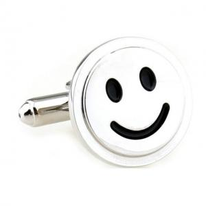 Butoni Borealy Happy Face Silver1