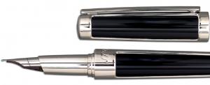 Set S.T. Dupont Luxury Fountain Pen si Note Pad Black Hugo Boss3