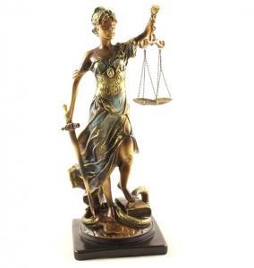 """Statueta """"Zeiţa Justiţiei"""" Gold 59 cm [0]"""