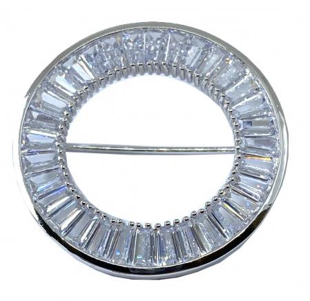 Stilou Nina Ricci Comete si Brosa Circle Crystal Baguette1