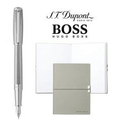 Stilou S.T. Dupont Fount Elysee Diamond Head si Notepad Hugo Boss