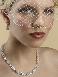 Stylish Lady Set Colier Cercei with Zirconia Simulated Diamonds [2]