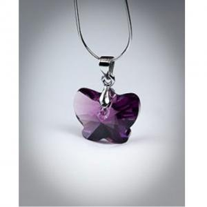 Colier Borealy Amethyst 18 mm Butterfly2