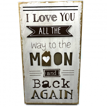 """Tablou motivational mare """"I Love YOU ALL THE way to the MOON and back AGAIN""""0"""