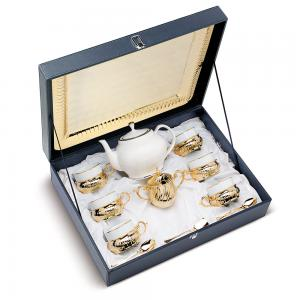 Coffee/ Tea Set For Six Gold Plated by Chinelli - Made in Italy