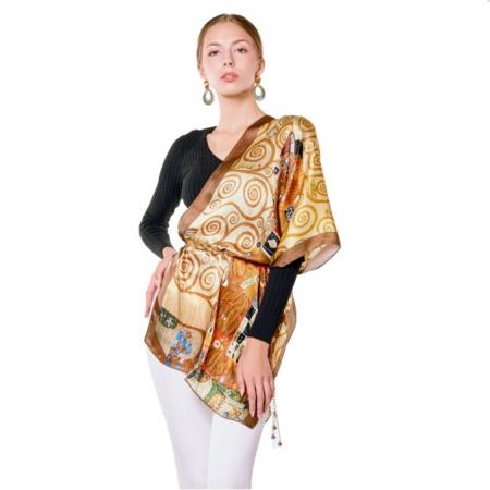 The Lady in Gold Esarfa Matase  - Gustav Klimt [0]