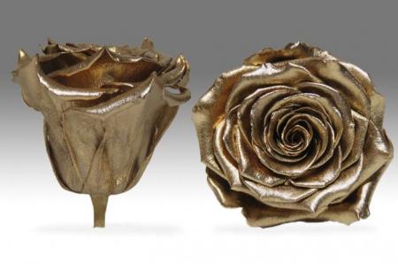 Trandafir Auriu Criogenat XXL 9 cm [2]