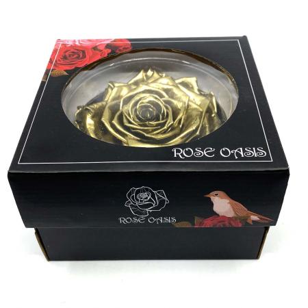 Trandafir Auriu Criogenat XXL 9 cm [3]