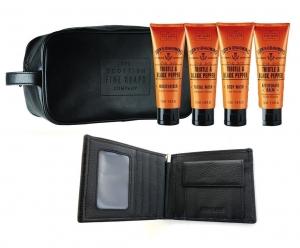 Travel Trusa Cosmetice Scottish Finest & Portofel piele naturala -personalizabil0