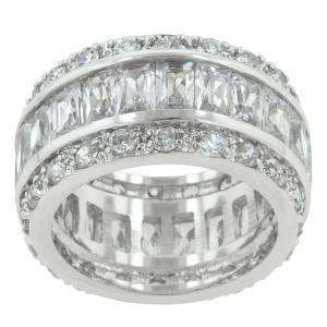 Inel Emerald Eternity Argint 9254