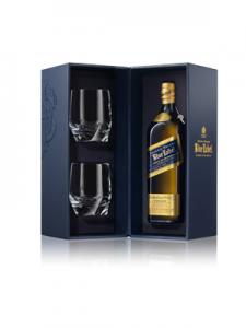 Johnnie Walker Blue Label set cu 2 Pahare Cristal1