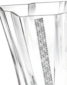 Vază cu cristale Swarovski PRIMA Quadro REGINA by Chinelli, made in Italy1