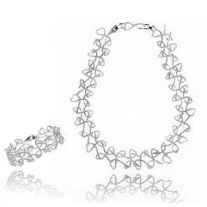 Victoria Diamonds Colier si Bratara0