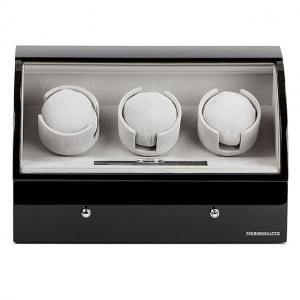 Watch Winder Basel 3 BLACK by Designhütte - Made in Germany4