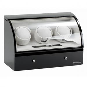Watch Winder Basel 3 BLACK by Designhütte - Made in Germany