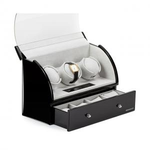Watch Winder Basel 3 BLACK by Designhütte - Made in Germany1