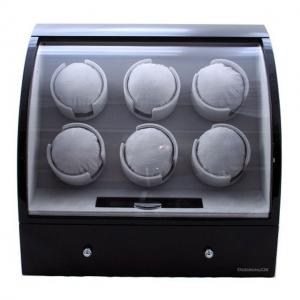Watch Winder Basel 6 BLACK by Designhütte – Made in Germany- personalizabil2