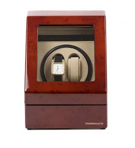 Watch Winder Monaco Brown 2 by Designhutte - Made in Germany - personalizabil3