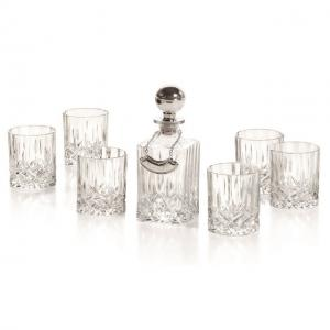 Whisky Set With Crystal Bottle Silver by Chinelli0