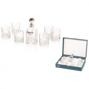 Whisky Set With Crystal Bottle Silver by Chinelli1