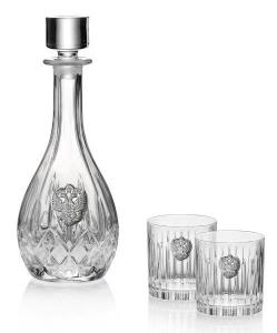 Whisky Crystal & Argint Set for Two by Valenti - Made in Italy0