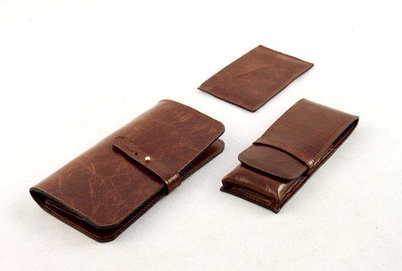 reducere vândut în toată lumea cele mai bune preturi Cadou Brown Classic Man accesorii piele naturala