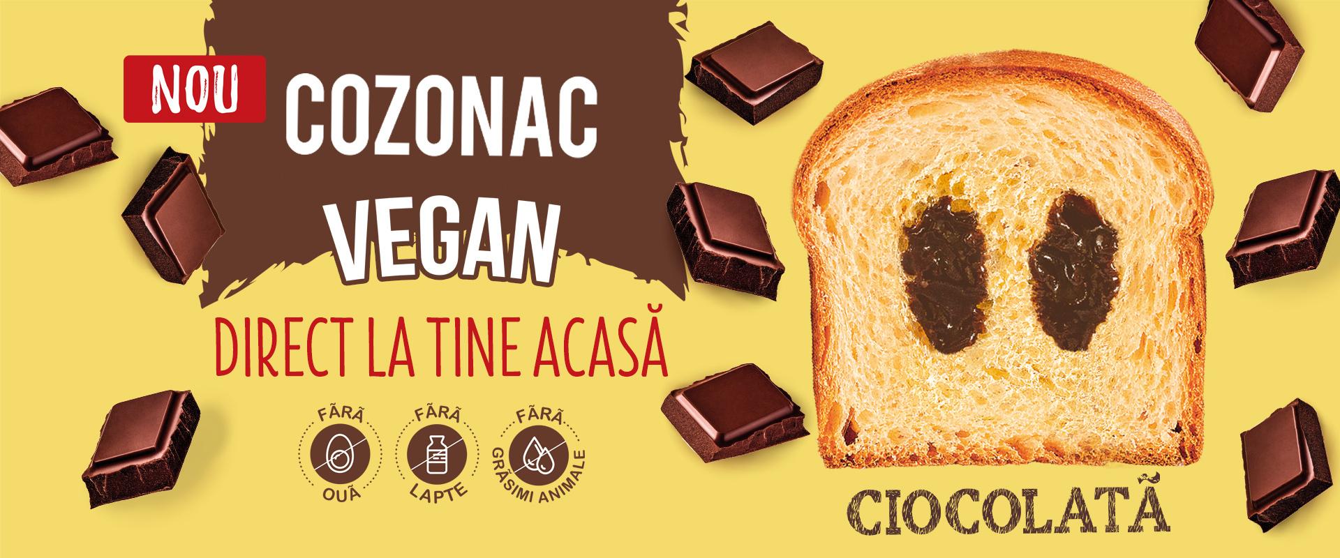 Cozonac vegan crema ciocolata