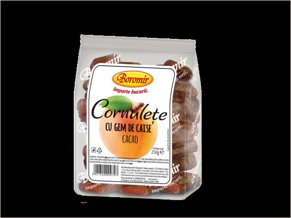 Cornulețe cu gem de caise și cacao 250g 0