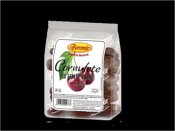 Cornulețe cu gem de vișine și cacao 250g 0