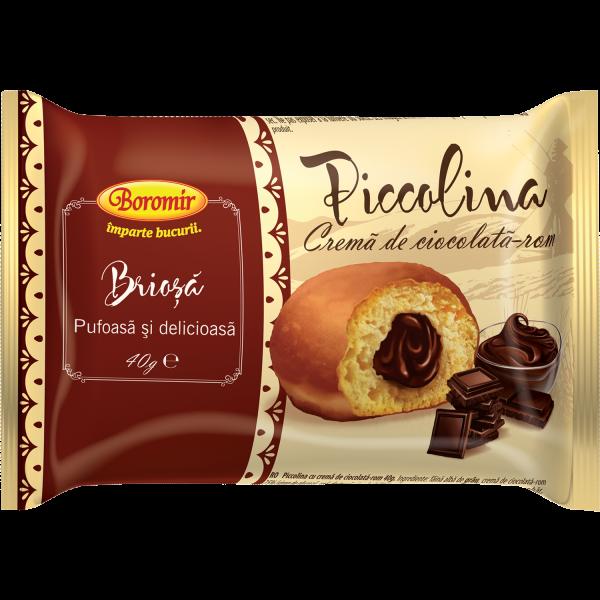Piccolina brioșă cremă de ciocolată și rom 40g 0