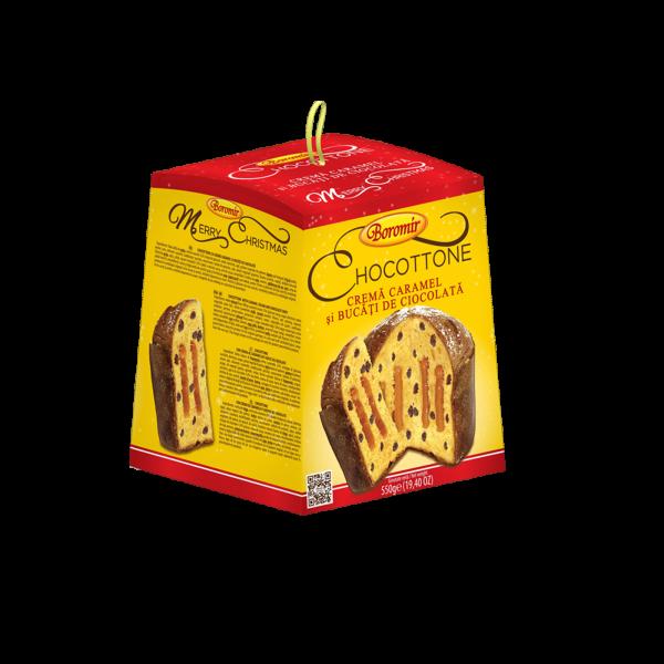 Chocottone cremă caramel și cipsuri de ciocolată 550g 0