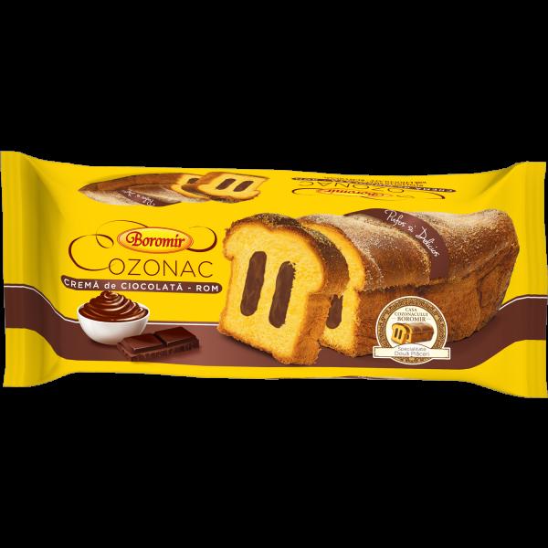 Cozonac cremă ciocolată rom 450g 0