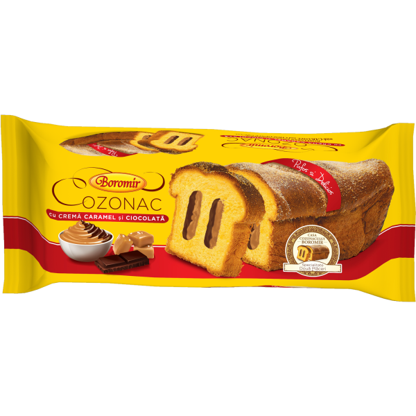 Cozonac cremă caramel și ciocolată 450g 0
