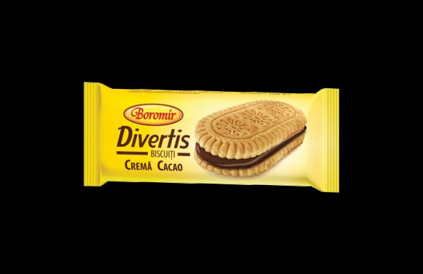 Biscuiti cremă cacao divertis 30g 0