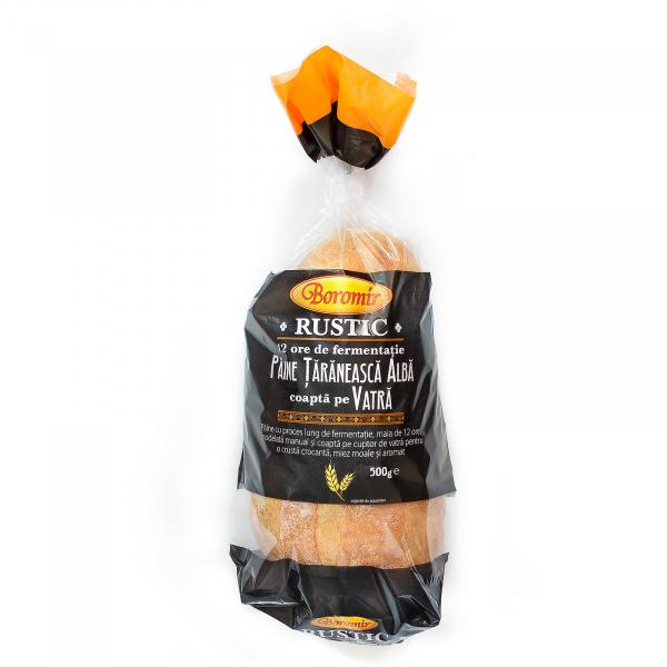 Pâine țărănească albă coaptă pe vatră 500g 0