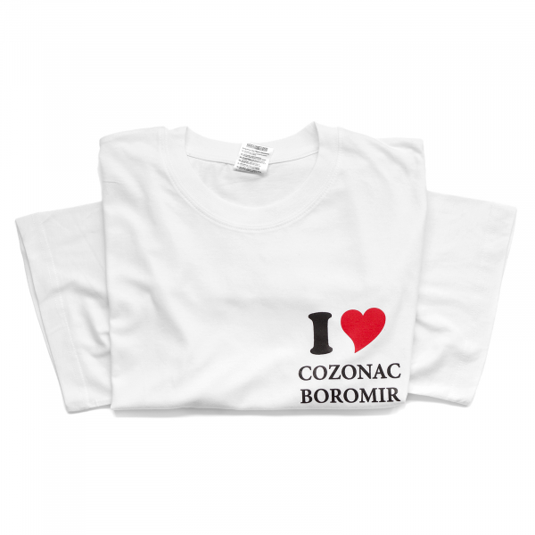 Tricou alb I Love Cozonac Boromir 0