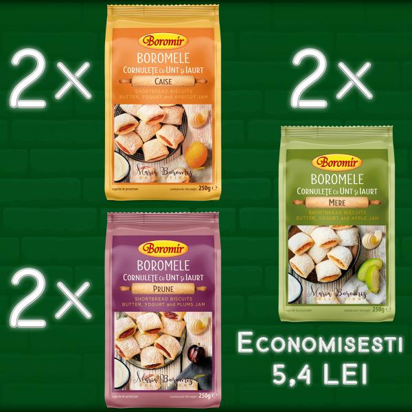 Pachet(2*Boromele caise 250g+2*Boromele prune 250g+2*Boromele mere 250g) 0