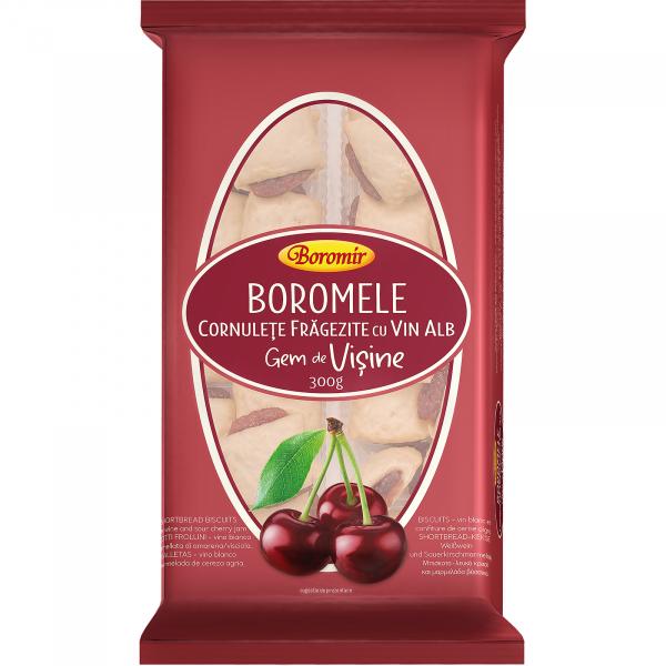 Cornulete Boromele cu vin alb si gem de visine 300g 0