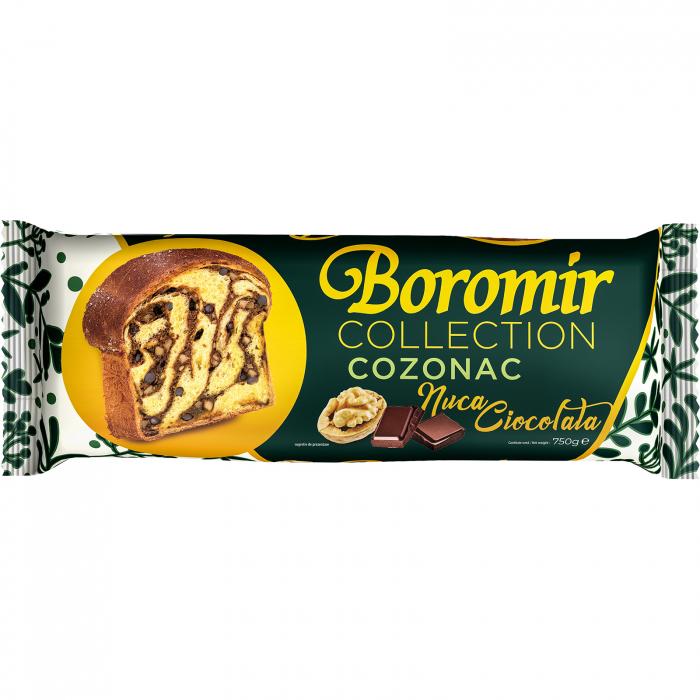 Cozonac Collection nuca si ciocolata 750g [0]