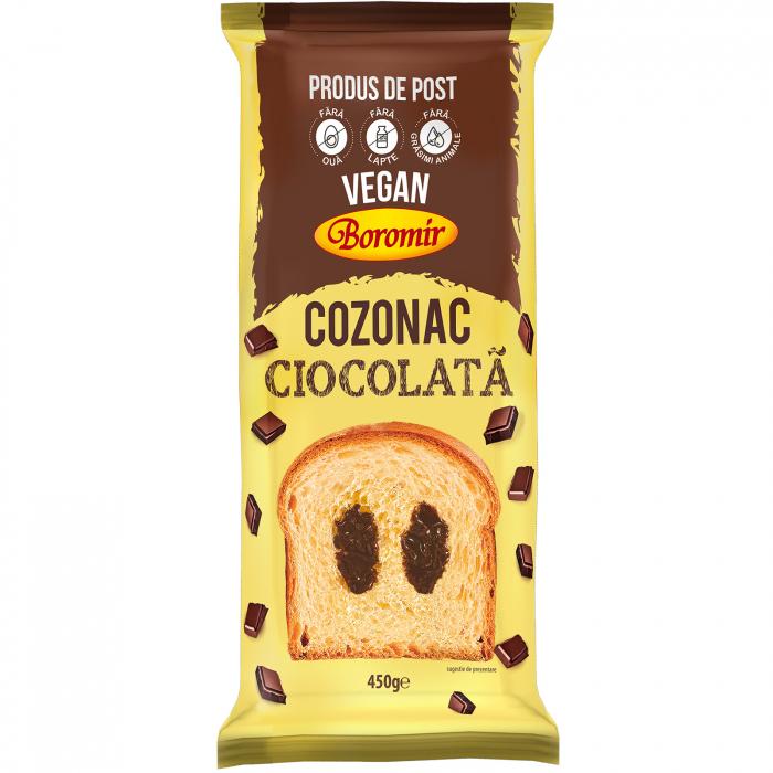Cozonac Vegan crema ciocolata 450g [0]