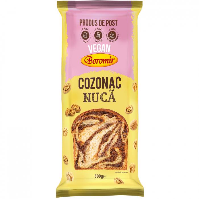Cozonac Vegan crema nuca 500g [0]