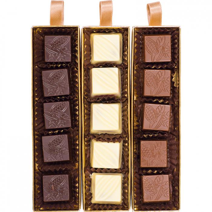 Praline de Ciocolată cu Zmeură, Afine si cirese amare 140g [1]