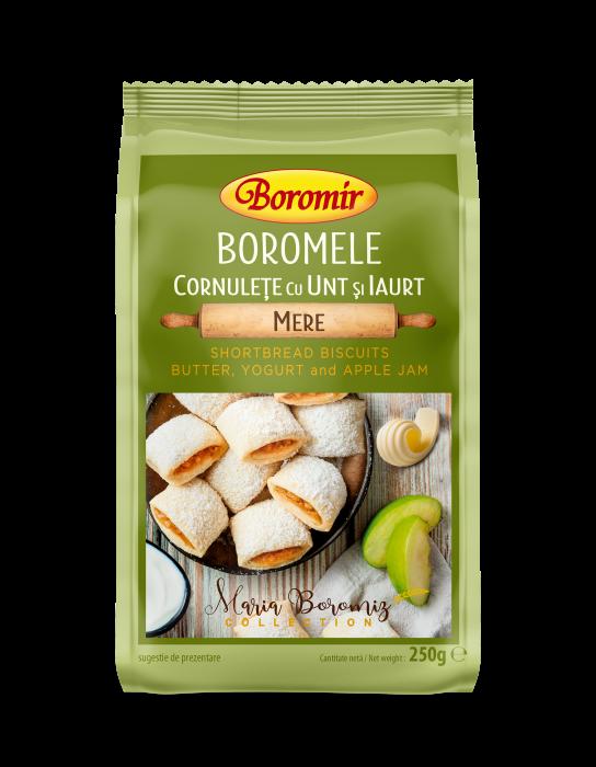 Cornulețe boromele cu unt, iaurt si gem de mere 250g 0