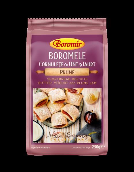 Cornulețe boromele cu unt, iaurt si gem de prune 250g 0