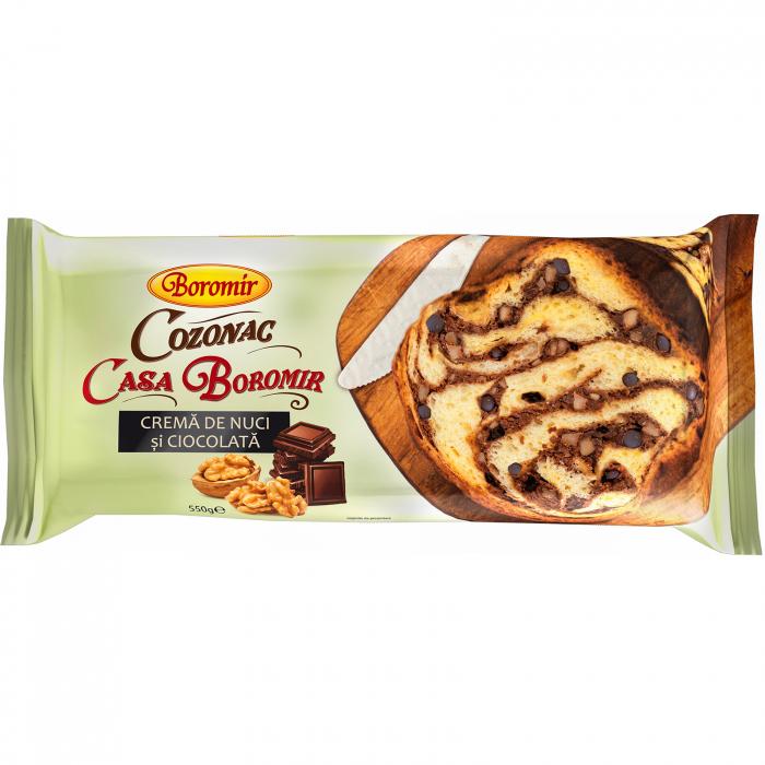 Cozonac Traditional Casa Boromir cu nuci si ciocolata [0]