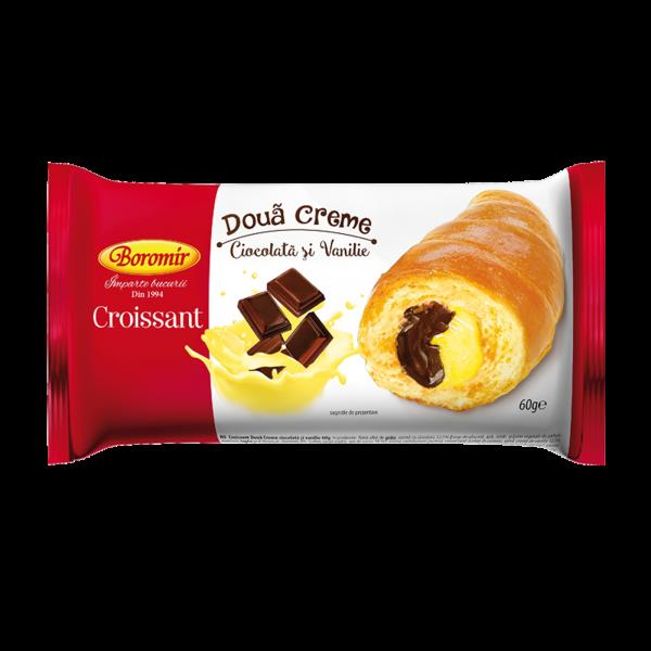 Croissant 2 creme ciocolata si vanilie 60g 0