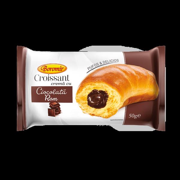 Croissant cremă ciocolată rom 50g 0