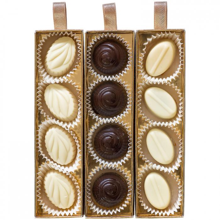 Praline de Ciocolată cu Unt de Arahide, Caramel Sărat și Cremă Alunetta 140g [1]