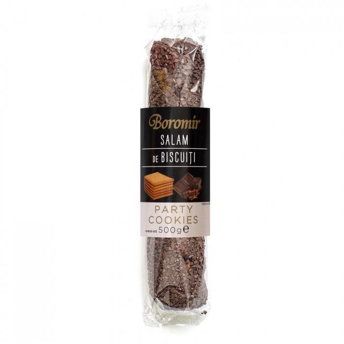 Salam de biscuiti 500g decor cu ciocolata neagra [0]